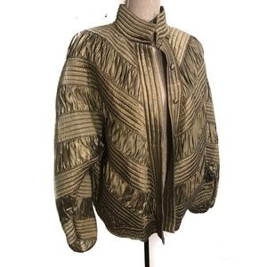 Vintage Gold Silk Bomber
